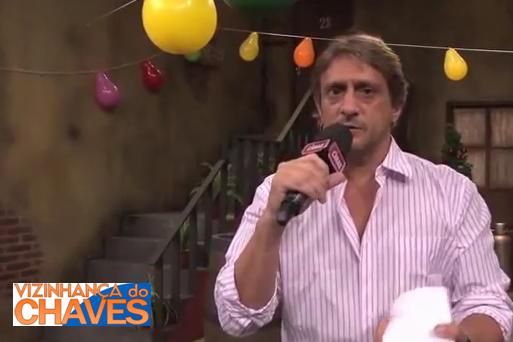 Diretor Marcelo de Nóbrega dando entrevista à TV Caras