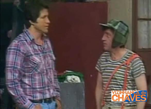 Hector Bonilla, interpretando a si próprio, e Chaves