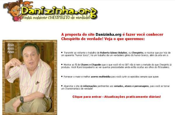 """Slogan do site passa a ser """"Venha conhecer Chespirito de verdade"""" (clique na imagem para ampliar)"""