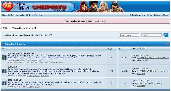 FUCH em junho de 2007, nesta época parceiro do site Natelinha (clique na imagem para ampliar)
