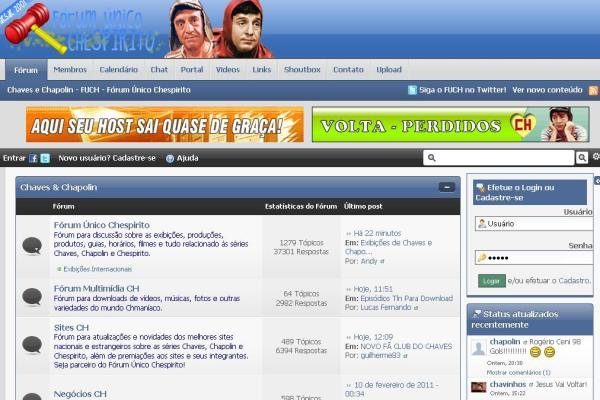 Fórum Único Chespirito em 2011, dois anos após a separação (clique na imagem para ampliar)