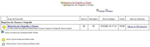 2002 - Negócios de Chapolin e Chaves, um dos predecessores do FUCH (clique na imagem par aampliar)