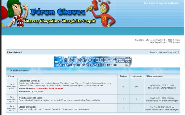 Quarto dia de existência do Fórum Chaves, em fevereiro de 2009 (clique na imagem para ampliar)