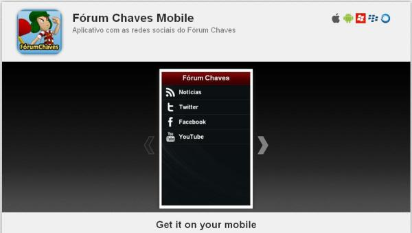 Outro avanço do Fórum Chaves: aplicativo para celular (clique na imagem para ler sobre)