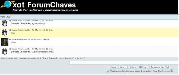 FCH também é lugar de conversa: Xat e Mini-chat (clique na imagem para ampliar)