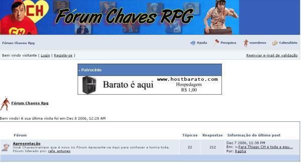 Fórum Chaves RPG em 2006 (clique na imagem para ampliar)