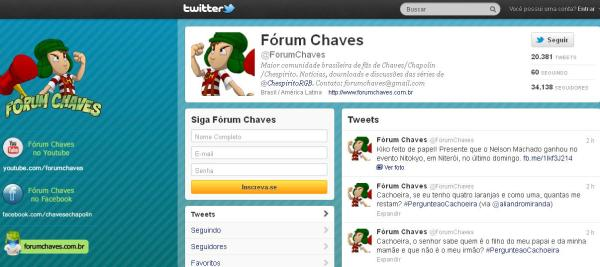 Fórum Chaves no Twitter