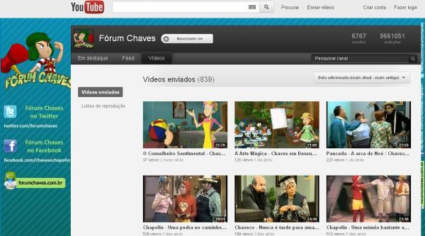 Fórum Chaves: sucesso também no Youtube (clique na imagem para ampliar)
