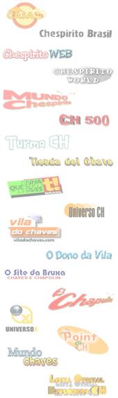 Plano de fundo do FUCH em janeiro de 2006, com os logotipos dos sites parceiros. Imagem: Arquivo Site da Bruxa. (clique na imagem para ampliar)