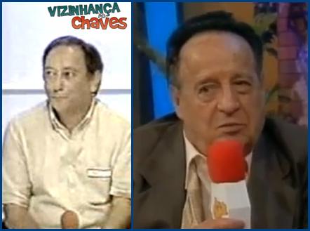 Marcelo Gastaldi (dublador) e Roberto Gomés Bolaños, Chespirito (Chaves) - imagem reprodução