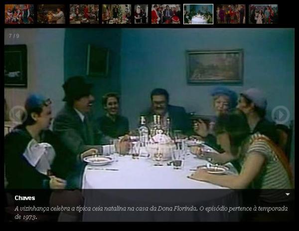 Natal do Chaves - reprodução SBT - Natal na casa da Dona Florinda