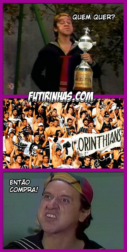 Tirinhas do Chaves - Libertadores - Créditos Futirinhas