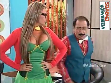 A que te ries - Venevision - Sabrina - Chiquinha do Chaves sexy - imagem reproducao 02