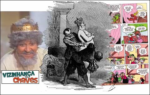 Carlos Villagran - Roupa nova do rei - Hans Christian Andersen - Quincas - Disney - Chespirito - reprodução