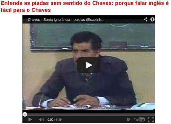 falar ingles é facil para o Chaves