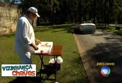 Marcelo Rezende vendendo cocadas - parece o Chaves vendendo churros - reprodução