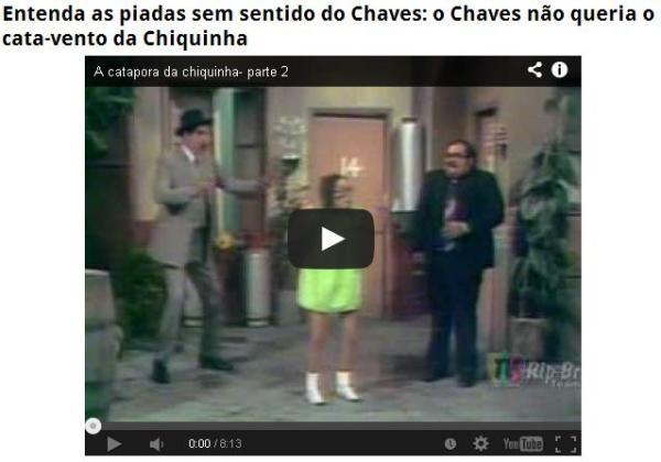 Chaves não queria o cata-vento da Chiquinha
