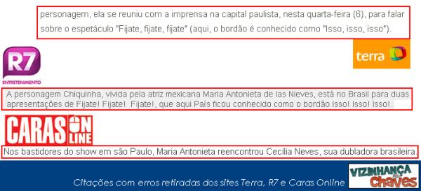 erros ch Chaves na imprensa brasileira