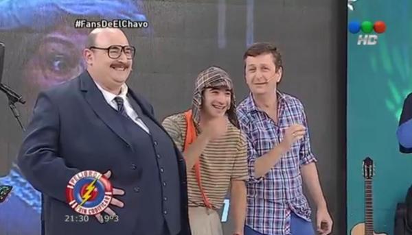 Peligro sin codificar  Fans de El Chavo - Telefe - imagem reprodução