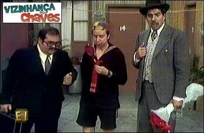 Chaves episódio inédito - A guerra é de terra - SBT - vizinhança do Chaves - imagem reprodução