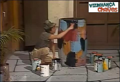 Chaves episódio inédito - Abre a torneira (pintando a vila) parte 2 - SBT - vizinhança do Chaves - imagem reprodução
