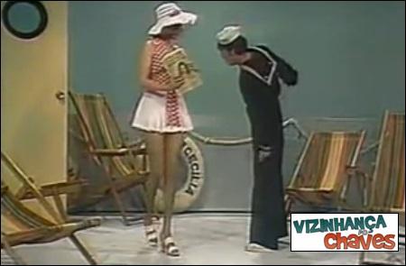 Chaves episódio inédito - O marinheiro maredo (O marujo enjoado) - SBT - vizinhança do Chaves - imagem reprodução