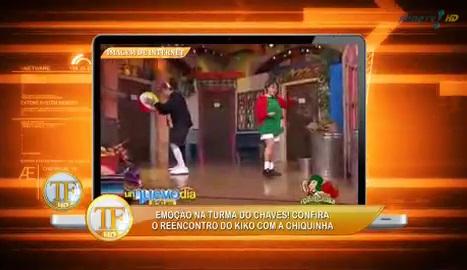 Kiko e Chiquinha, da série Chaves, se reencontram na TV - TV Fama - imagem reprodução