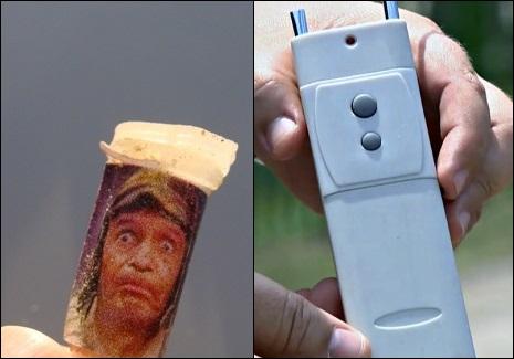 Chaves em pinos de cocaína e Chapolin é nome de dispositivo para roubar carros
