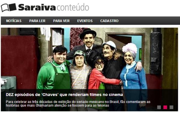 Saraiva Conteúdo - dez episódios de Chaves que renderiam filmes no cinema - reprodução
