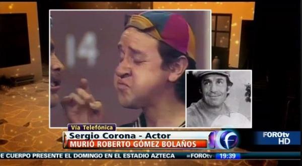 Foro TV Televisa homenagem a Roberto Gómez Bolaños - Chespirito, gracias siempre - homenagem de corpo presente no Estádio Azteca, México