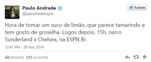 Paulo Andrade ESPN referencia falecimento de Bolaños Chespirito