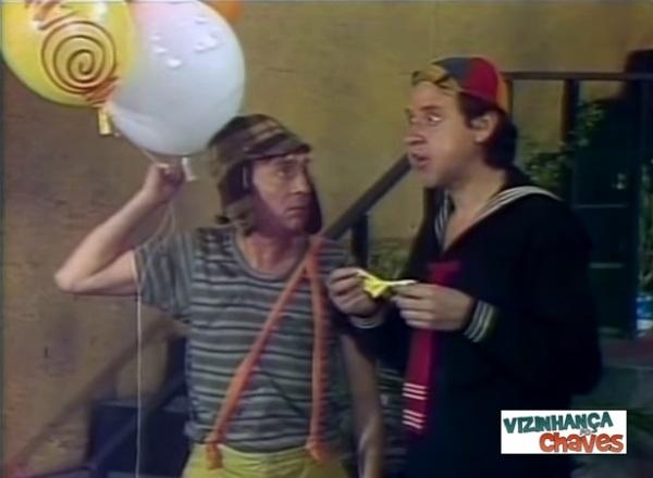 """Cena de """"Amarelinhas e balões"""" (1977), o episódio de """"Chaves"""" mais exibido pelo SBT em 2014."""