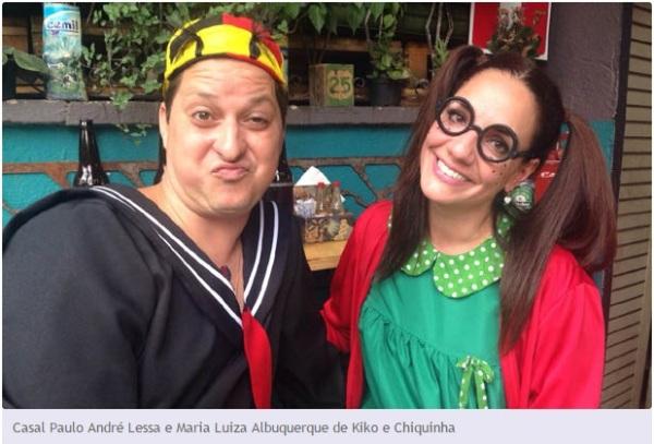 Carnaval 2015 Chaves Chespirito Chapolin homenagens - Bloco Jangalove - Belo Horizonte-MG - Kiko e Chiquinha