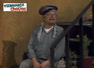 Jaiminho na escada - Vizinhança do Chaves
