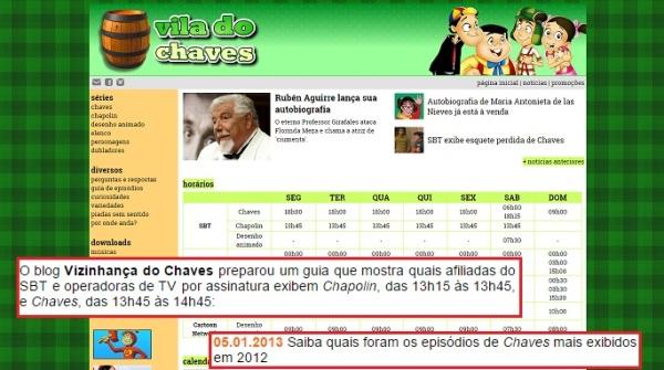 Vizinhança do Chaves na mídia - 04