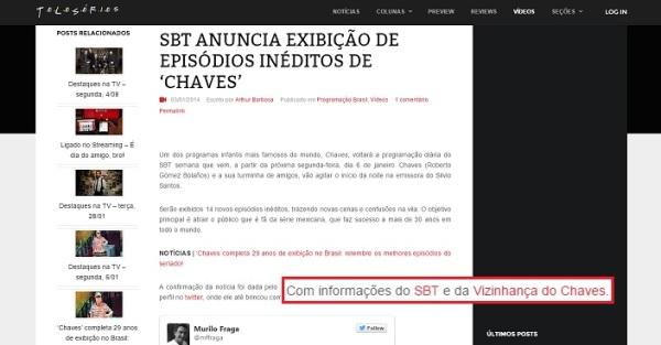 Vizinhança do Chaves na mídia - 06