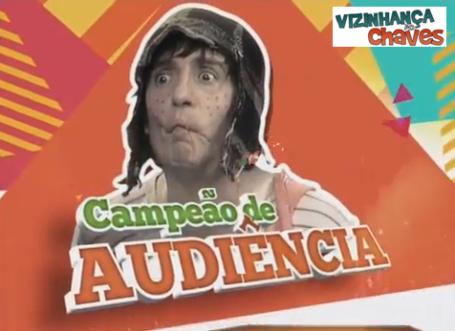 LOGOTIPO_Logotipo das séries - UFChaves - SBT - Campeão de Audiência - imagem reprodução - Vizinhança do Chaves