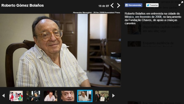 Folha de São Paulo F5 erro - chamou Fundação Chespirito de Fundação Chaves