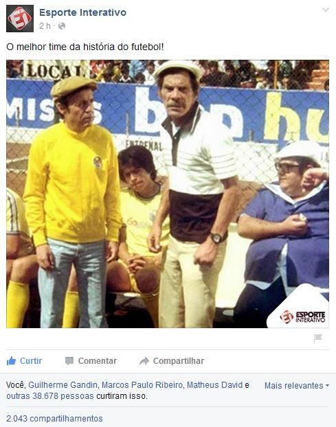 Esporte Interativo no Facebook cita filme El Chanfle - imagem reproducao