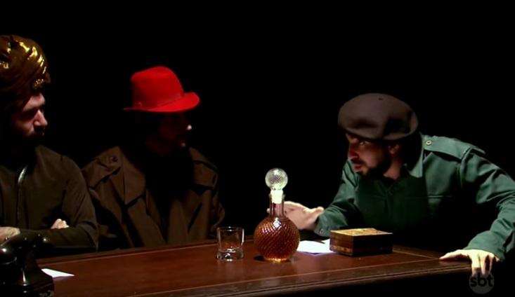 Murilo Couto e Gregório Duvivier referenciam Chaves e Seu Madruga com nomes da esquerda - The Noite - SBT - imagem reprodução