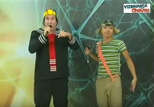 Canal de TV do Ceará coloca pessoas fantasiadas de Chaves e Quico em chamada da emissora