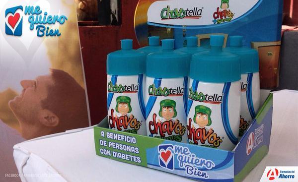 Chavotella garrafa do Chaves ajuda na causa de pessoas com diabetes 2