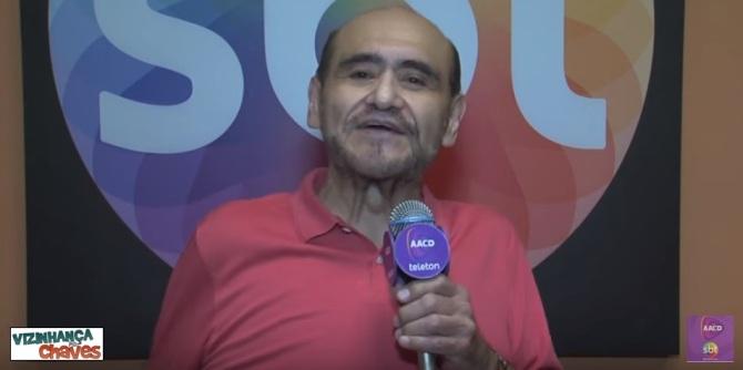 """No Brasil, Edgar Vivar lançou um aplicativo, se apresentou em Campinas/SP, foi entrevistado pelo """"CQC"""" e gravou depoimento para o """"Teleton 2015"""". Imagem: arquivo."""