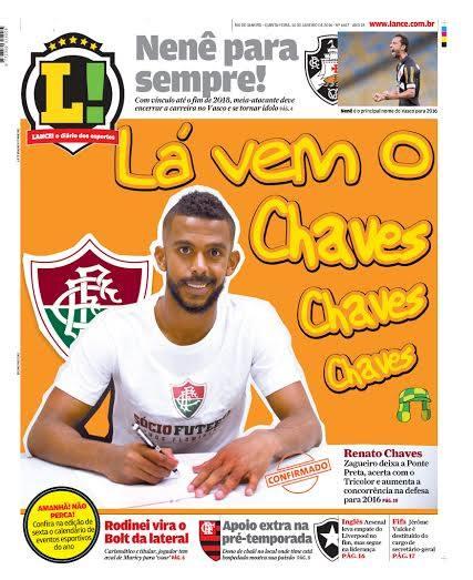 Jornal LANCE cita tema de abertura de Chaves em capa nesta quinta-feira