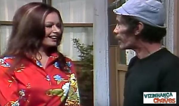 Olivia Leiva, a Glória de 1975 - Chaves - As chegada das novas vizinhas - parte 2 (1975) - reprodução