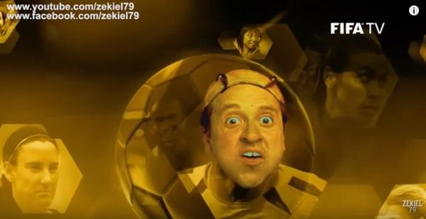 Quico no Balón de Oro FIFA - bola de ouro da FIFA Quico do Chaves - paródia - imagem reprodução