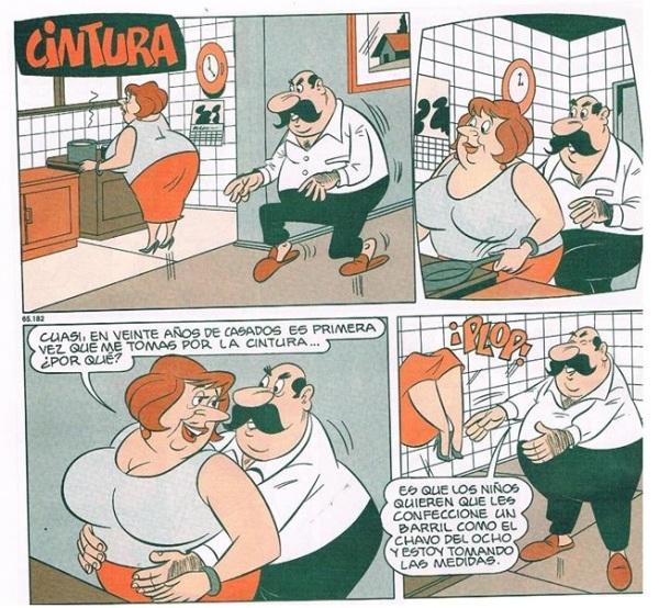 Tirinha do Condorito faz referência a barril do Chaves