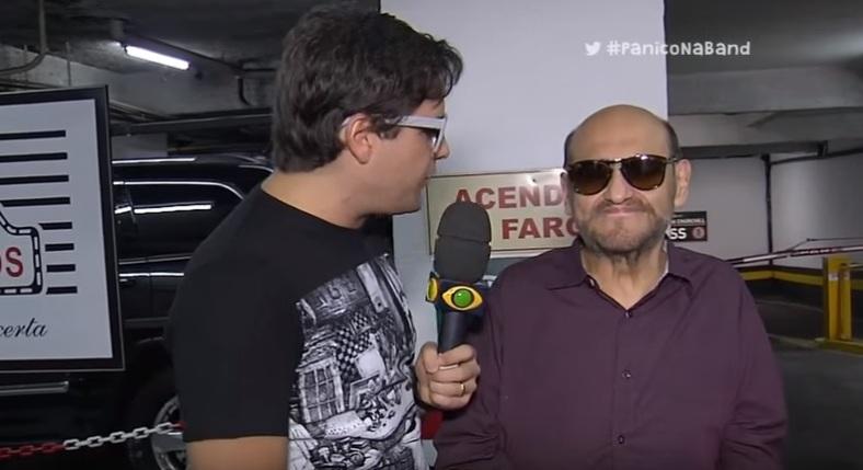 Pânico na Band entrevista Edgar Vivar, o Seu Barriga - imagem reprodução Youtube