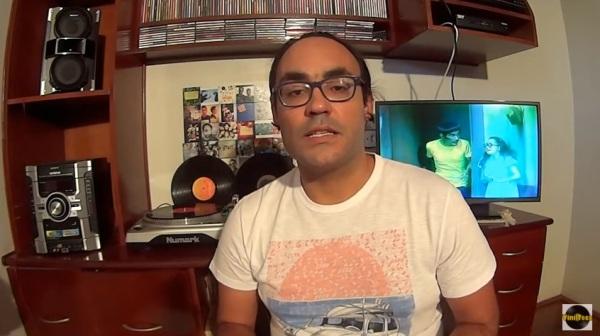 Vinilteca dedica um vídeo ao disco do Chaves - imagem reprodução