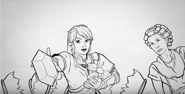 Desenho de Dona Florinda é colocado em vídeo do canal Mega Curioso - imagem reprodução